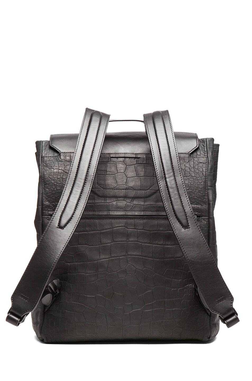 Image 3 of Alexander Wang Flap Pocket Backpack Embossed in Ink Croc