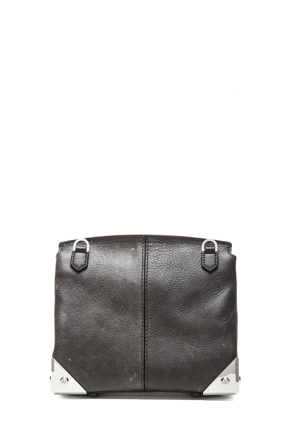 Image 2 of Alexander Wang Marion Distressed Bovine with Rhodium Hardware in Black