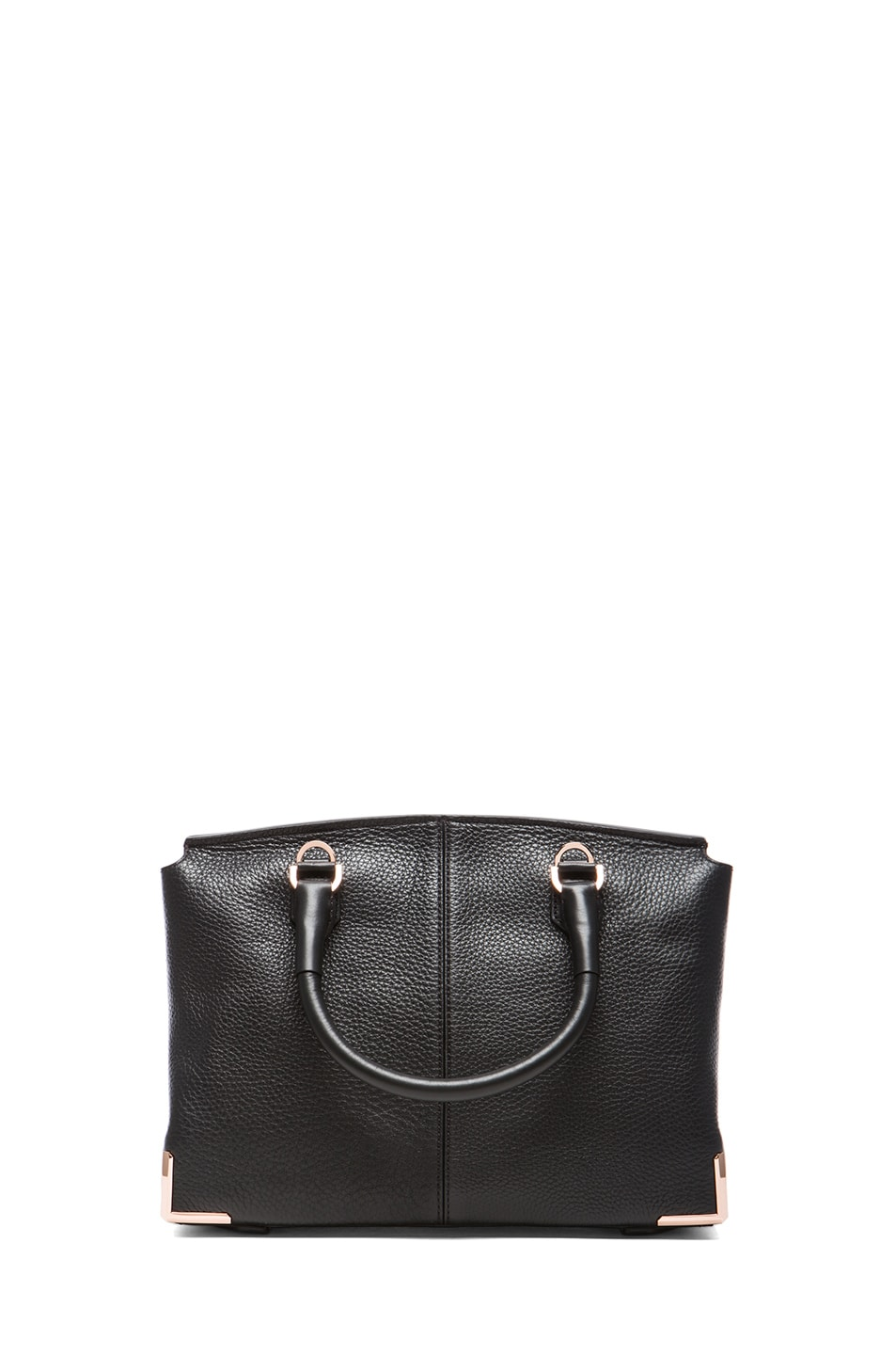 Image 2 of Alexander Wang Large Marion Soft Pebble Leather with Rose Gold Hardware in Black