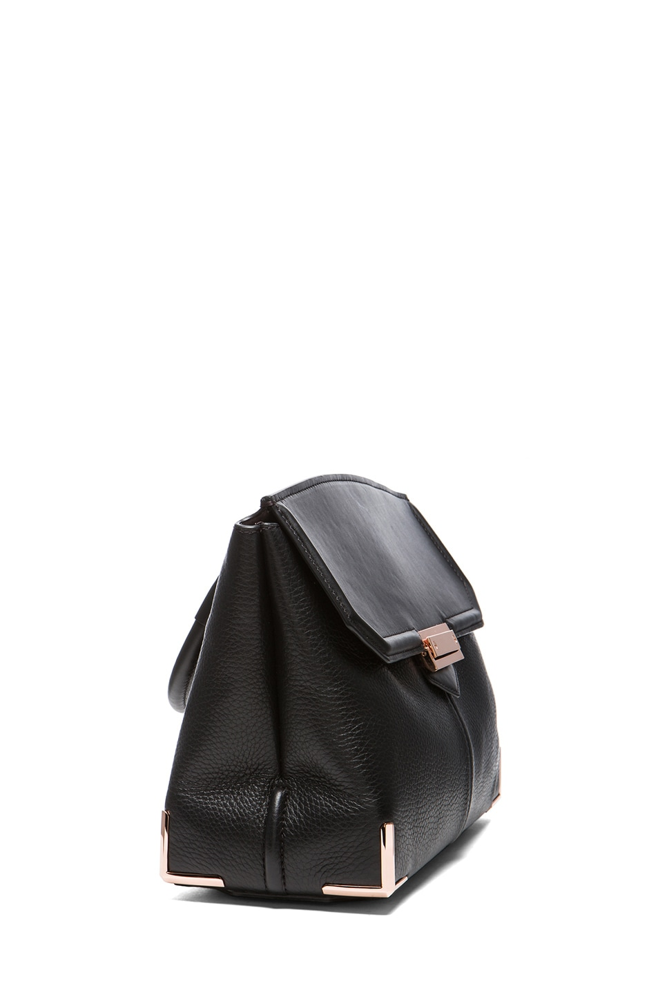Image 3 of Alexander Wang Large Marion Soft Pebble Leather with Rose Gold Hardware in Black