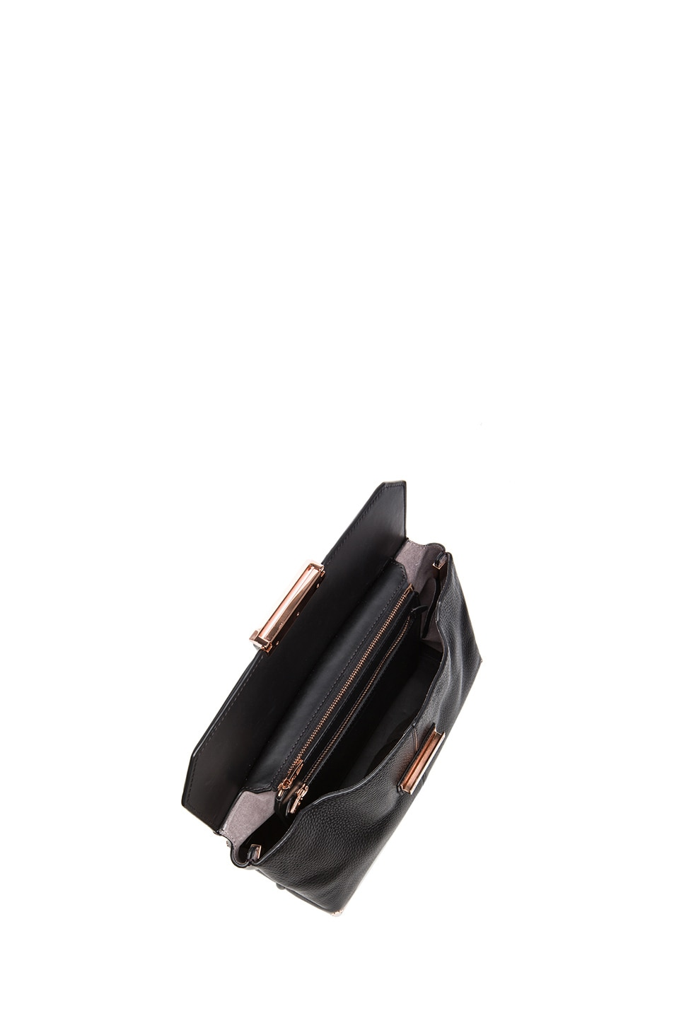 Image 4 of Alexander Wang Large Marion Soft Pebble Leather with Rose Gold Hardware in Black