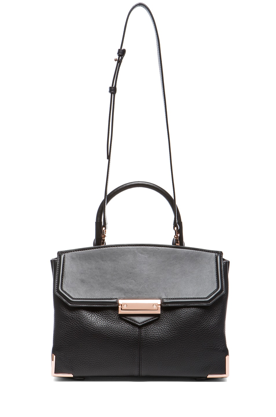 Image 5 of Alexander Wang Large Marion Soft Pebble Leather with Rose Gold Hardware in Black
