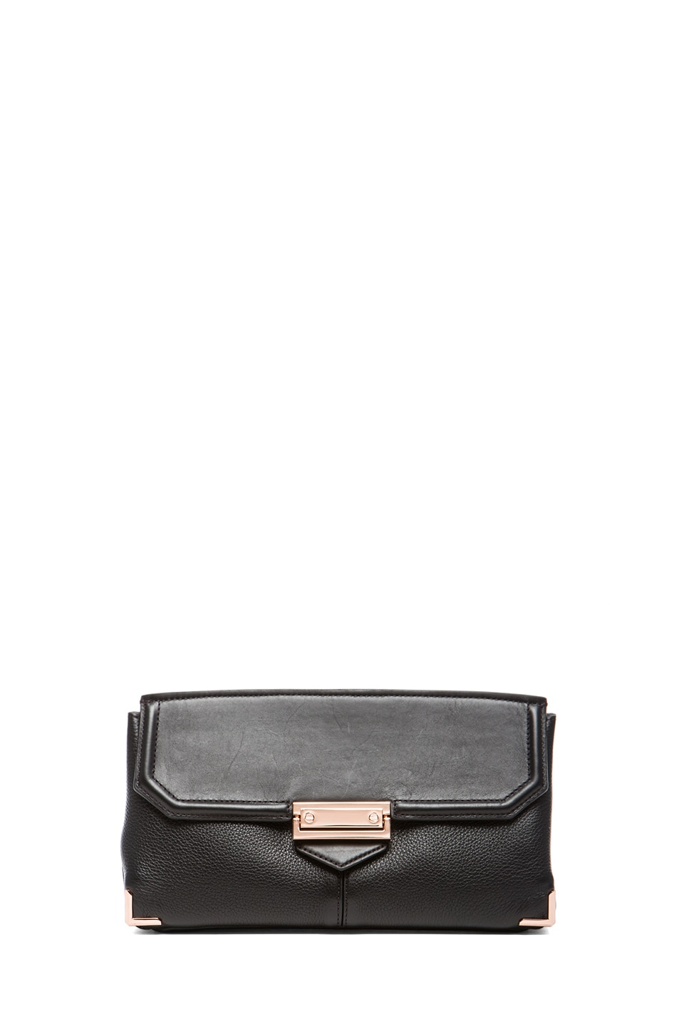 Image 1 of Alexander Wang Prisma Skeletal Clutch with Rhodium Hardware in Black