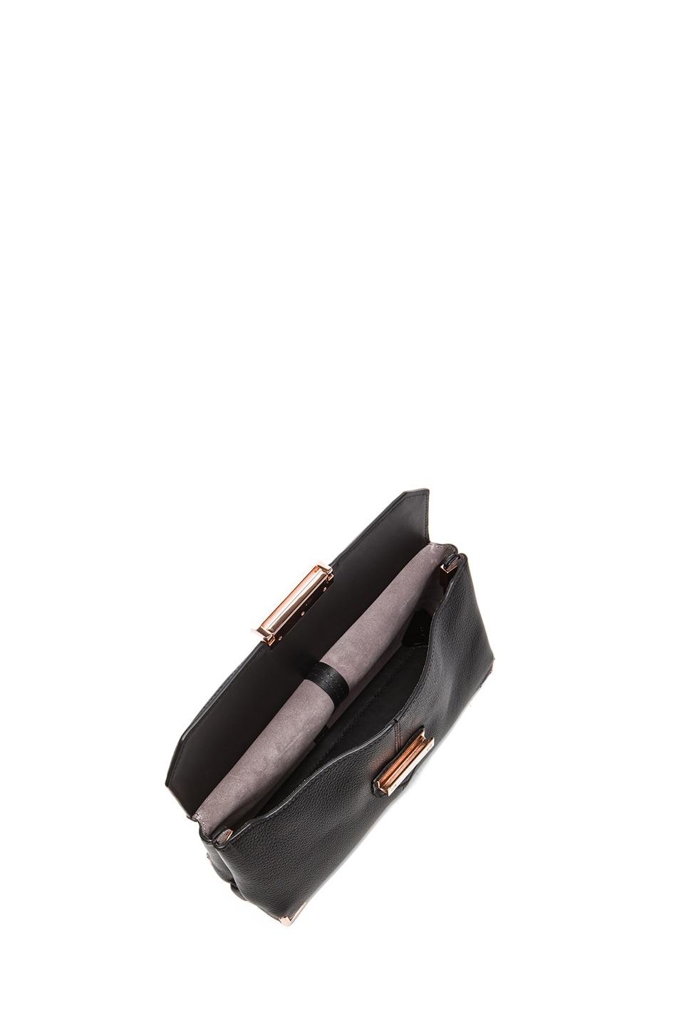 Image 4 of Alexander Wang Prisma Skeletal Clutch with Rhodium Hardware in Black