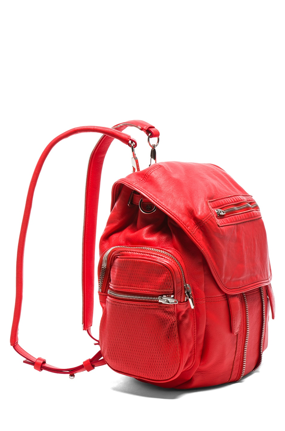 Image 3 of Alexander Wang Marti Leather & Mesh Backpack in Cola