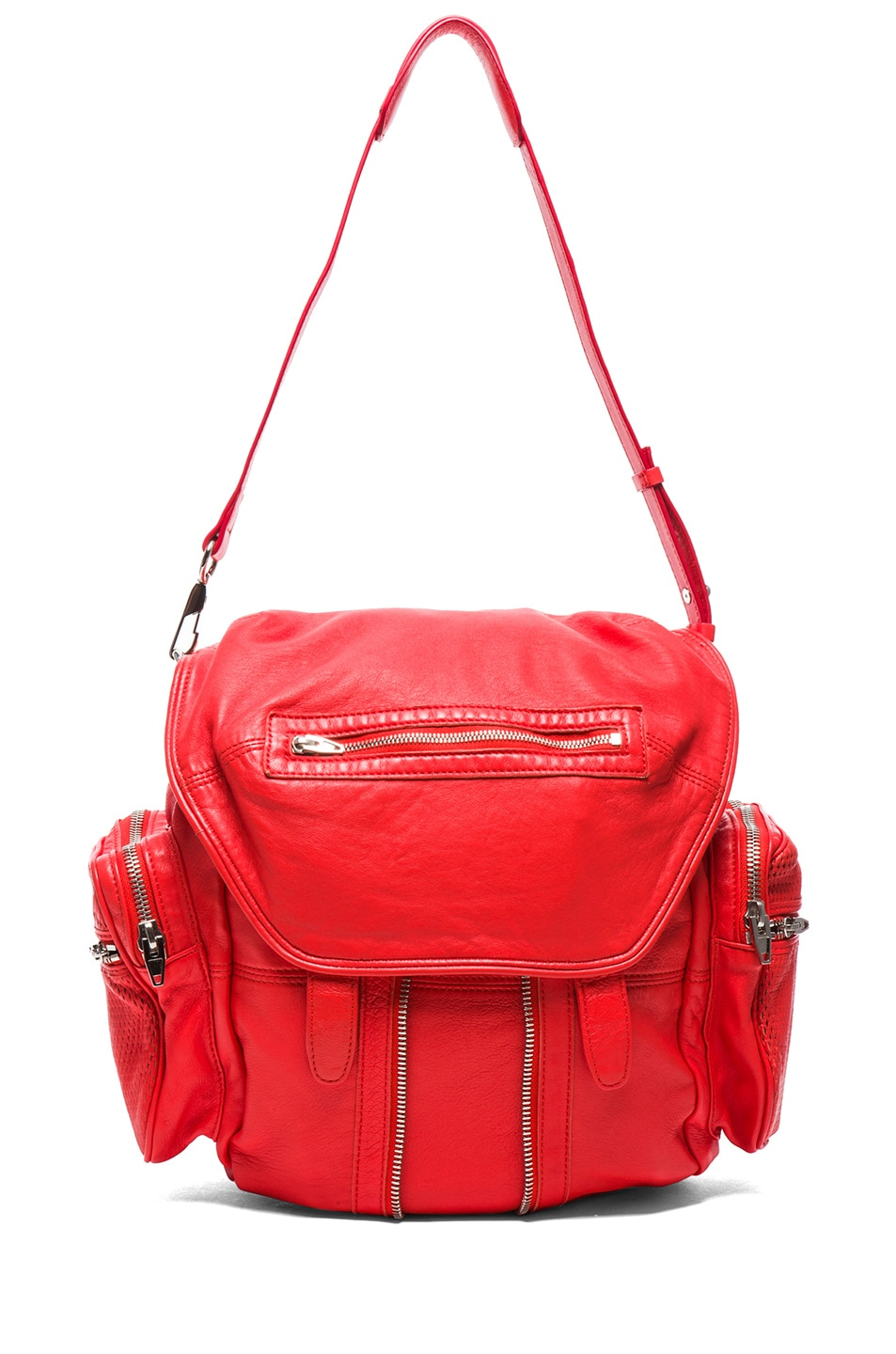Image 5 of Alexander Wang Marti Leather & Mesh Backpack in Cola