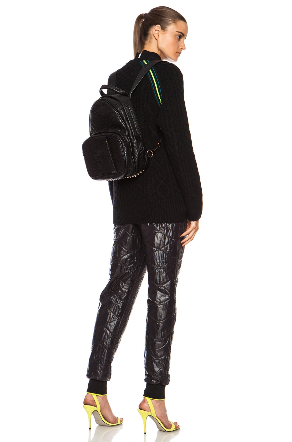 Image 2 of Alexander Wang Dumbo Backpack with Rose Gold Hardware in Black