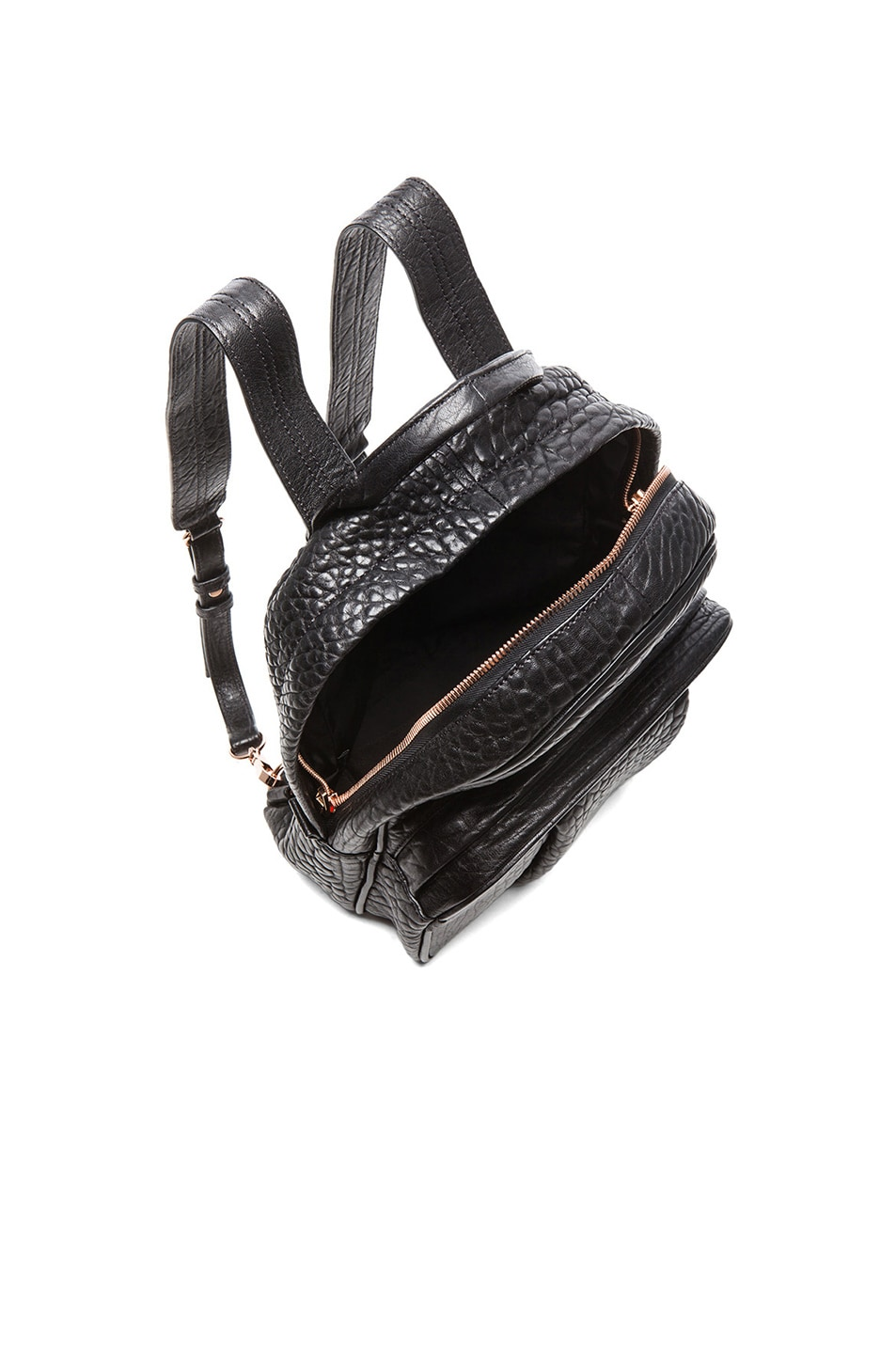 Image 5 of Alexander Wang Dumbo Backpack with Rose Gold Hardware in Black