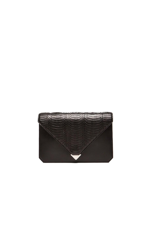 Image 1 of Alexander Wang Prisma Envelope Clutch in Black