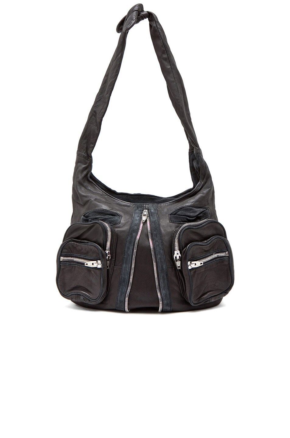 Image 1 of Alexander Wang Donna Hobo in Black