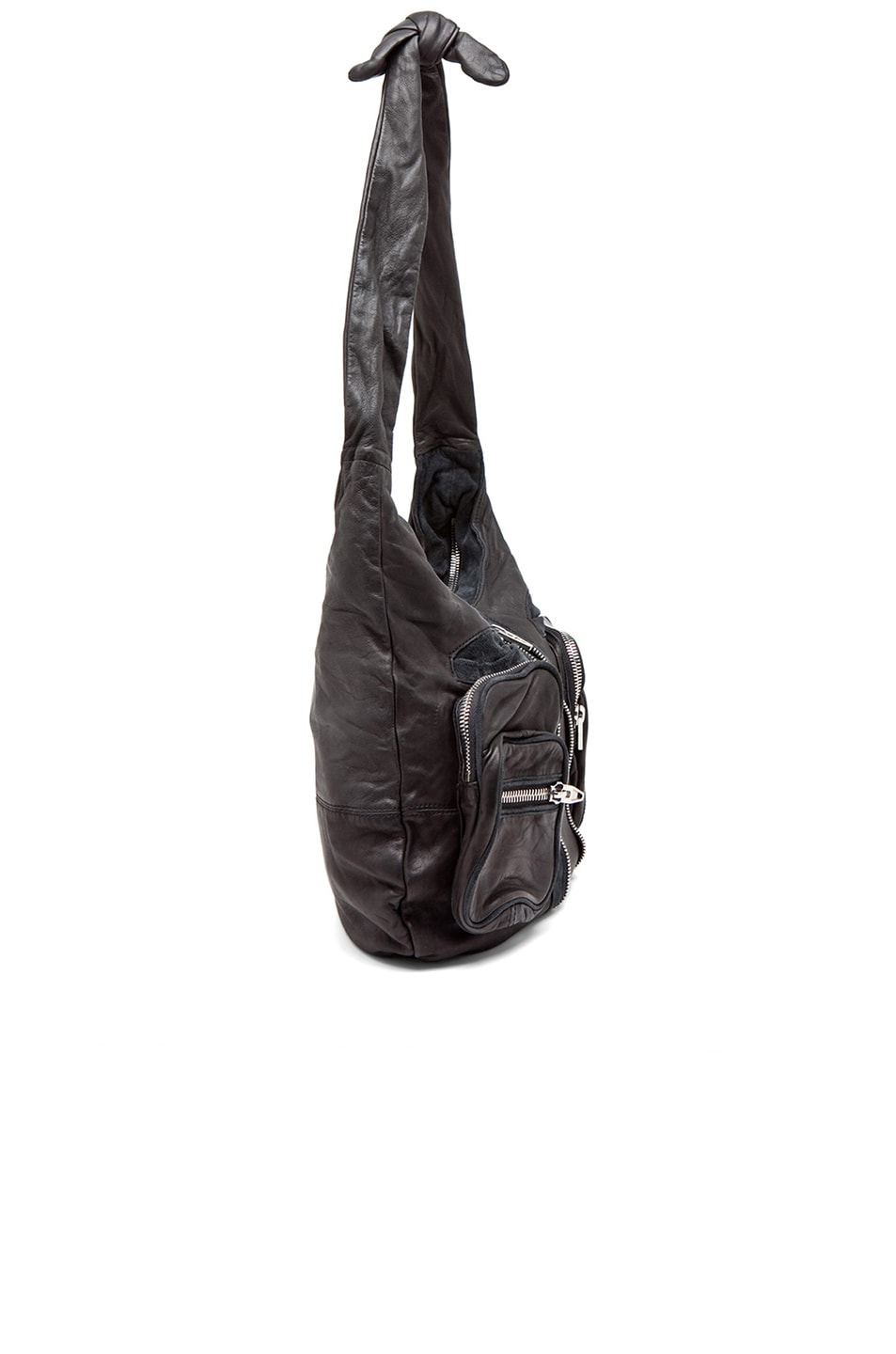 Image 4 of Alexander Wang Donna Hobo in Black