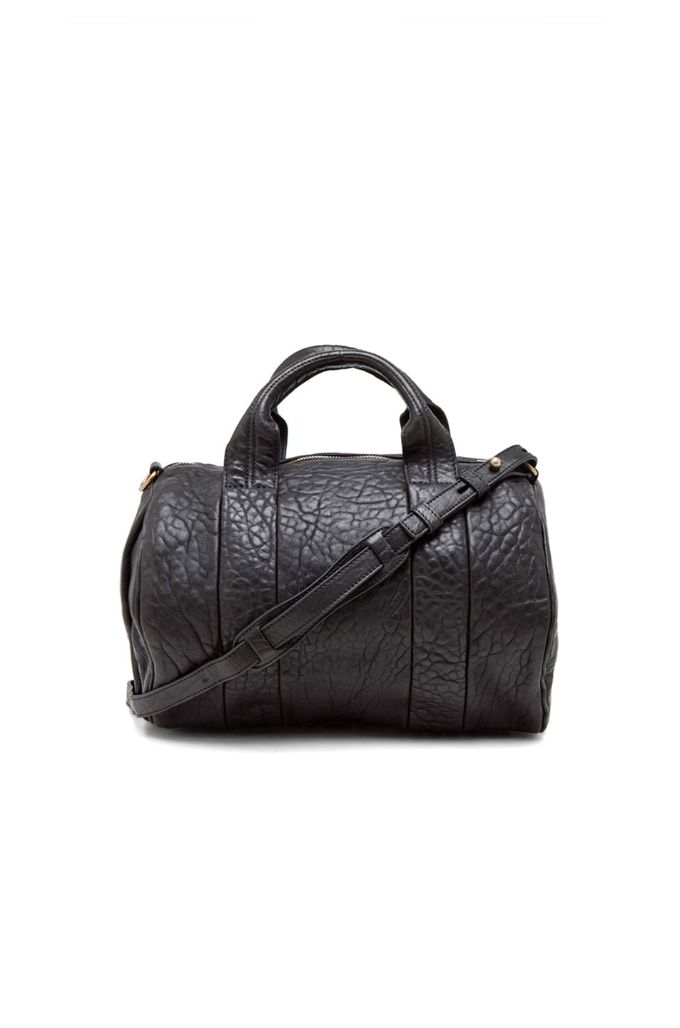 Image 1 of Alexander Wang Rocco Satchel with Gold Hardware in Black