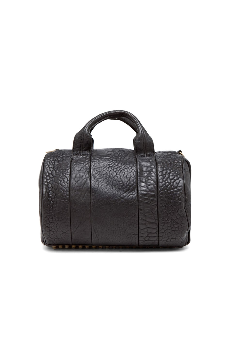 Image 3 of Alexander Wang Rocco Satchel with Gold Hardware in Black