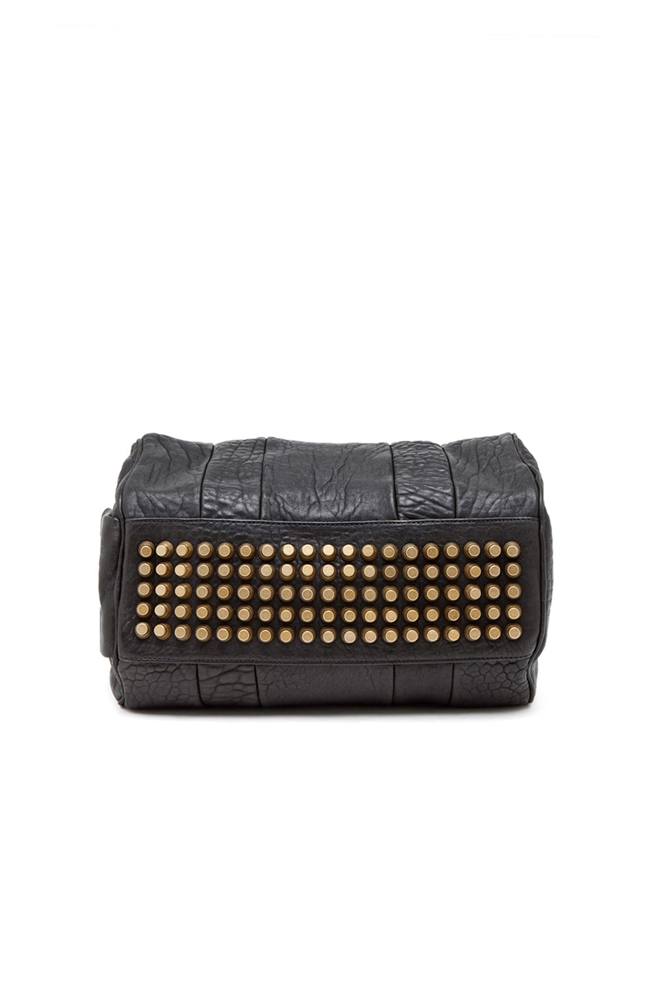 Image 6 of Alexander Wang Rocco Satchel with Gold Hardware in Black
