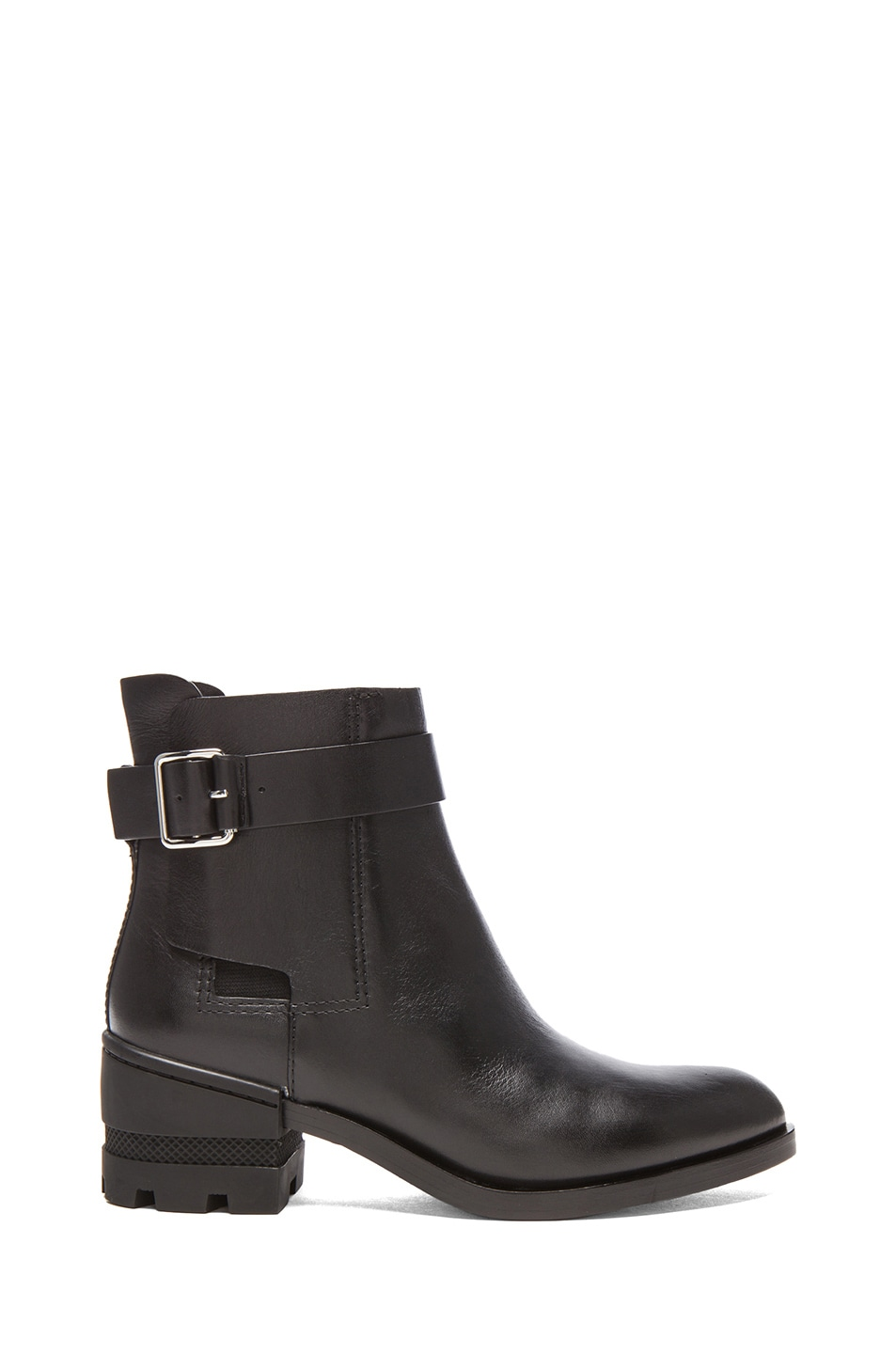 Image 1 of Alexander Wang Martine Leather Ankle Boots in Black