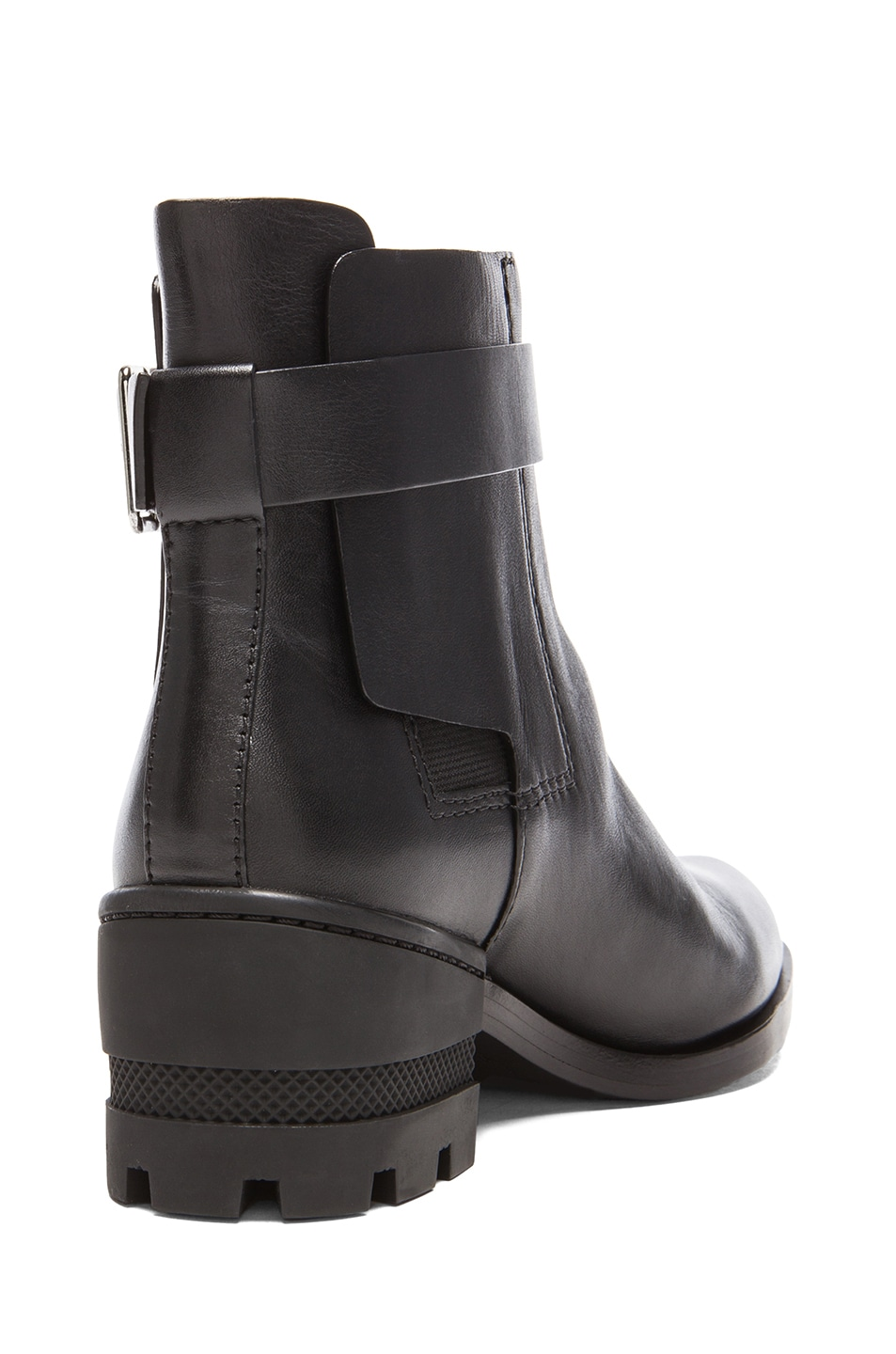 Image 3 of Alexander Wang Martine Leather Ankle Boots in Black