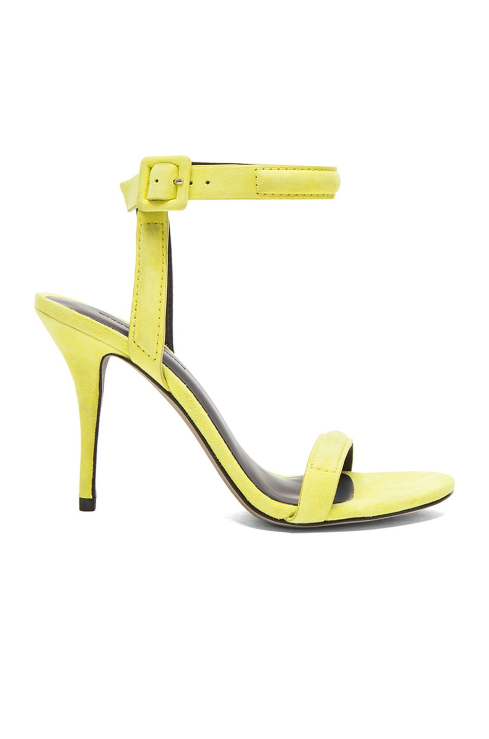 Image 1 of Alexander Wang Antonia Suede Ankle Strap Heels in Citrine