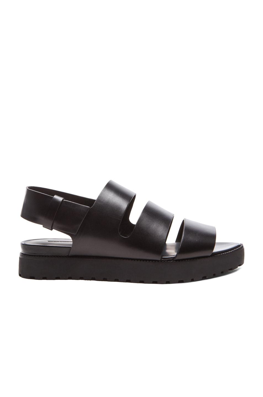 Image 1 of Alexander Wang Alisha Sling Back Leather Sandals in Black