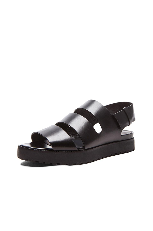 Image 2 of Alexander Wang Alisha Sling Back Leather Sandals in Black