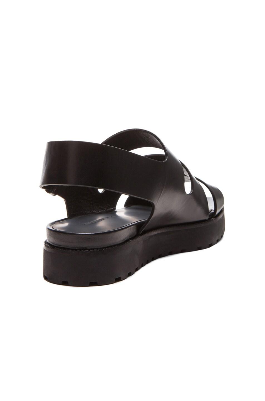 Image 3 of Alexander Wang Alisha Sling Back Leather Sandals in Black