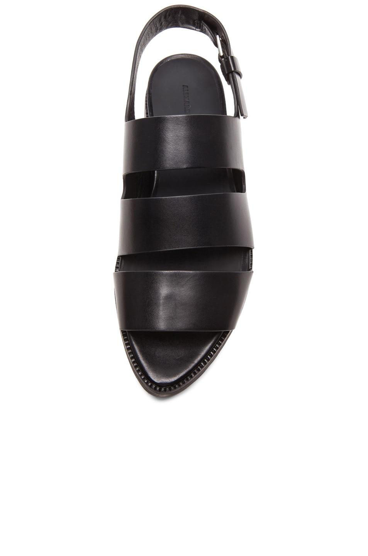 Image 4 of Alexander Wang Alisha Sling Back Leather Sandals in Black