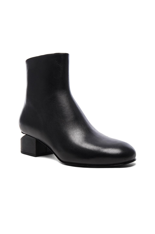 Image 2 of Alexander Wang Leather Kelly Booties in Black