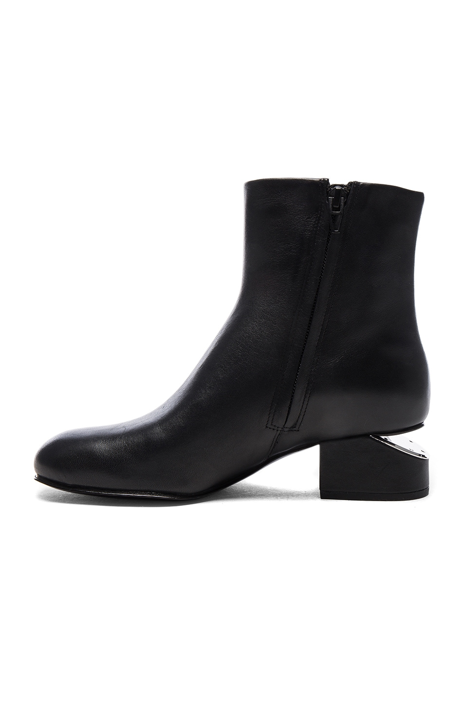 Image 5 of Alexander Wang Leather Kelly Booties in Black