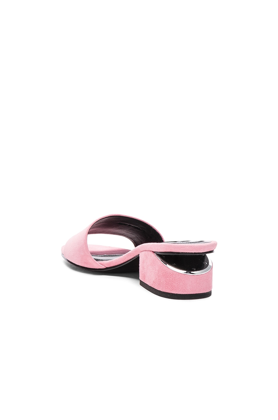 Image 3 of Alexander Wang Suede Lou Slides in Pink