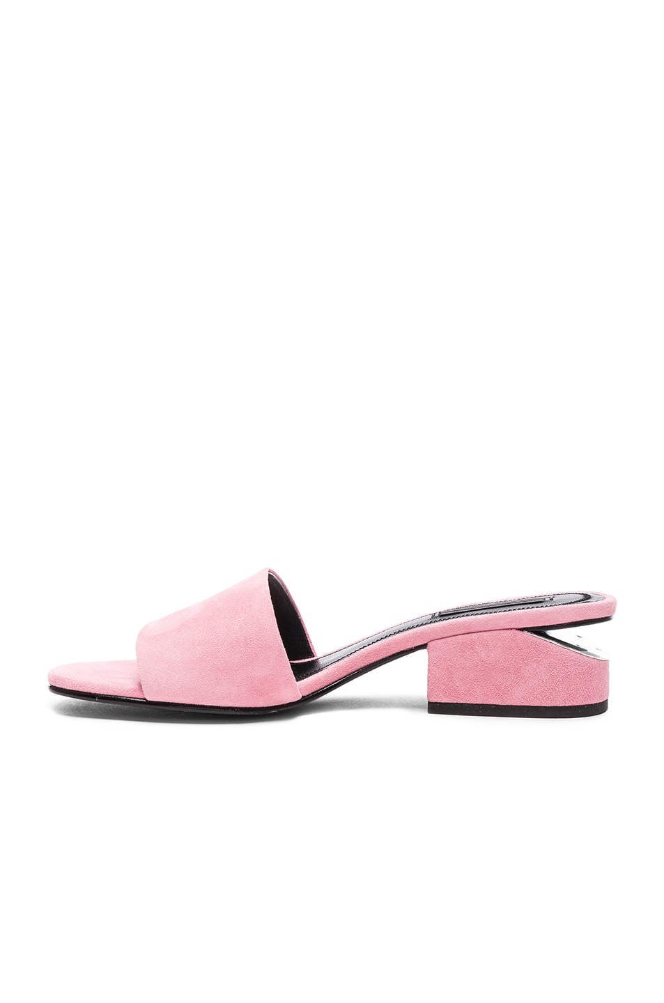 Image 5 of Alexander Wang Suede Lou Slides in Pink