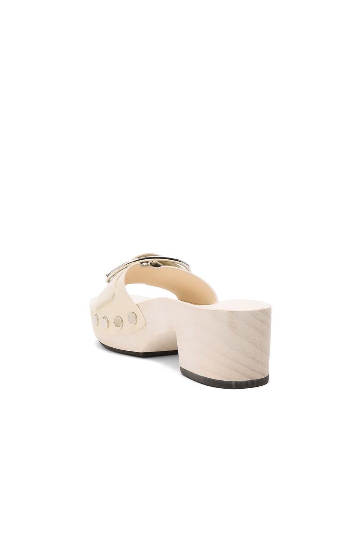 Image 3 of Alexander Wang Leather Maya Sandals in Bone