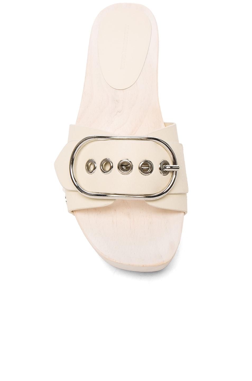 Image 4 of Alexander Wang Leather Maya Sandals in Bone