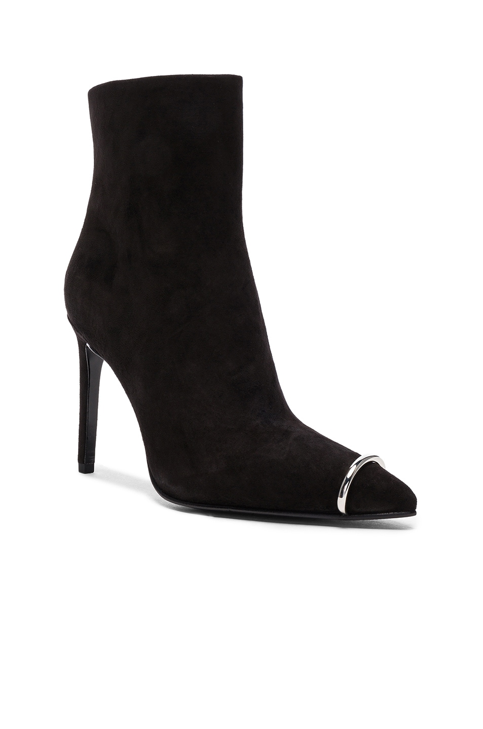 Image 2 of Alexander Wang Suede Kinga Boots in Black Suede