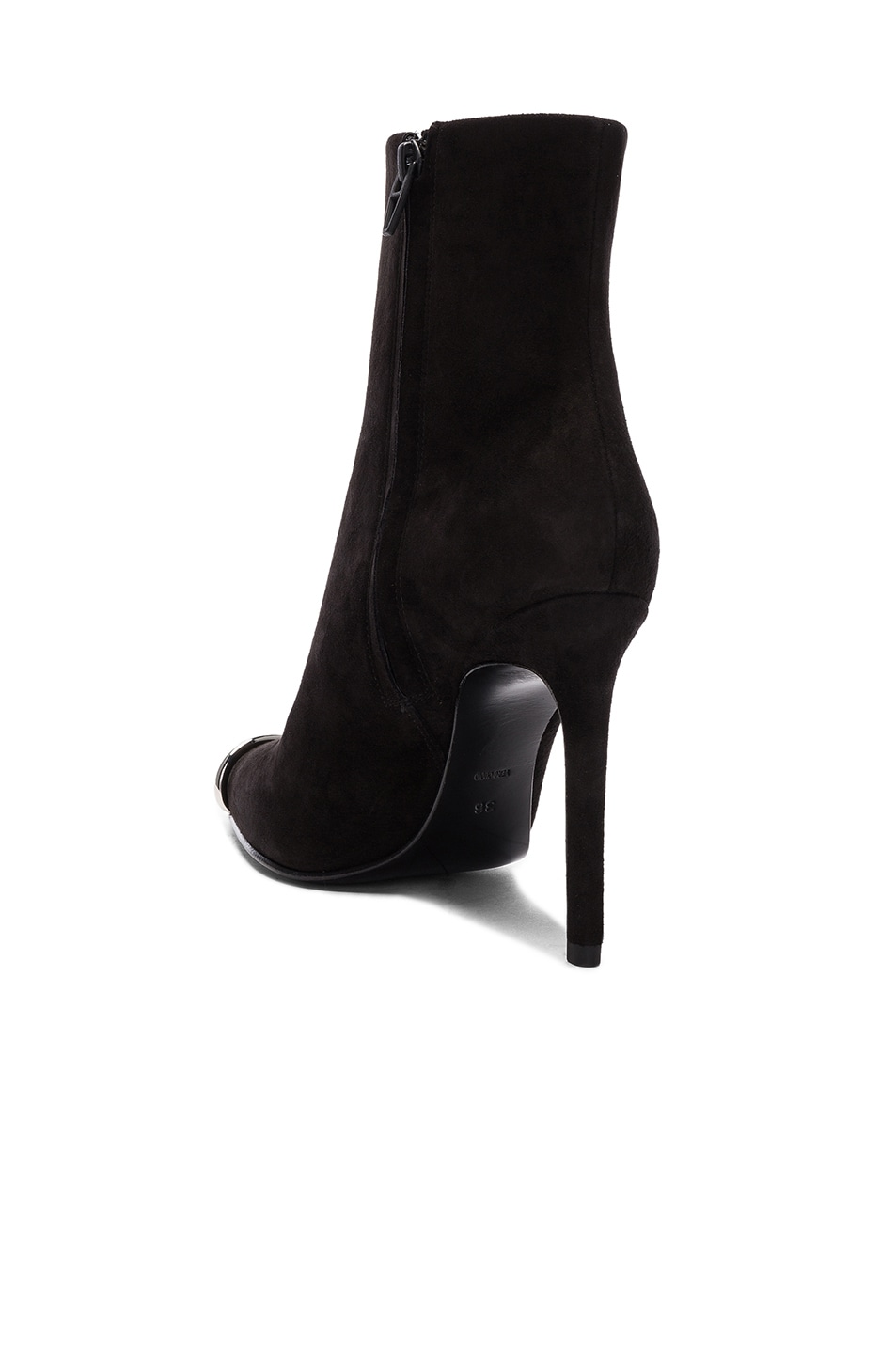 Image 3 of Alexander Wang Suede Kinga Boots in Black Suede