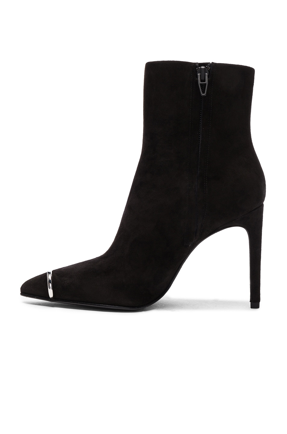 Image 5 of Alexander Wang Suede Kinga Boots in Black Suede