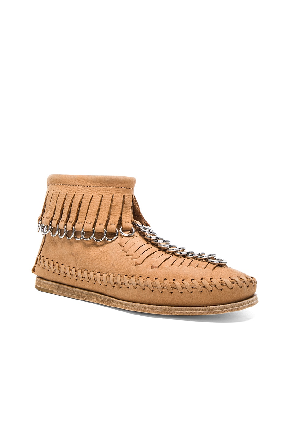 ALEXANDER WANG Leather Montana Booties In Neutrals. in Clay