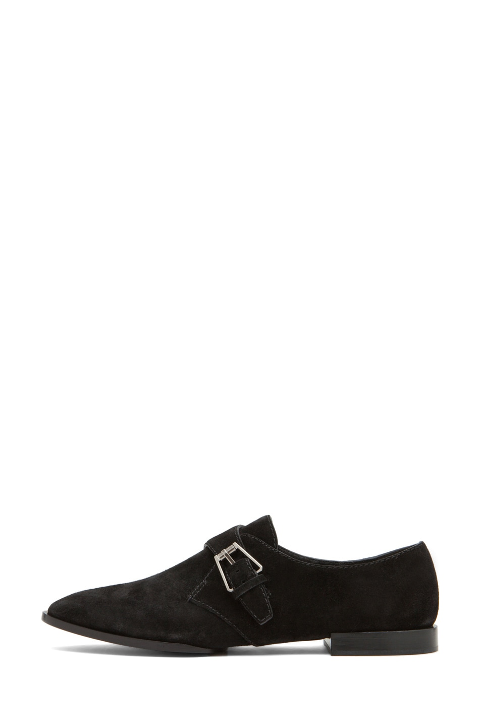 Image 1 of Alexander Wang Ruby Monk Strap Flat in Black