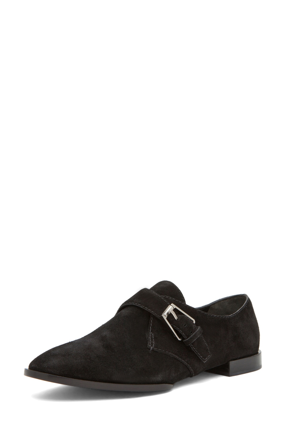 Image 2 of Alexander Wang Ruby Monk Strap Flat in Black