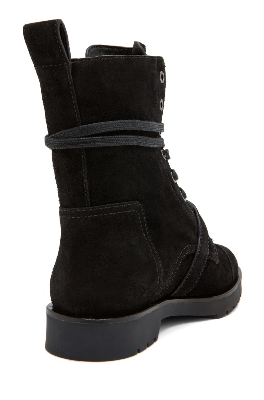 Image 3 of Alexander Wang Daria Buckle Combat Boot Suede in Black