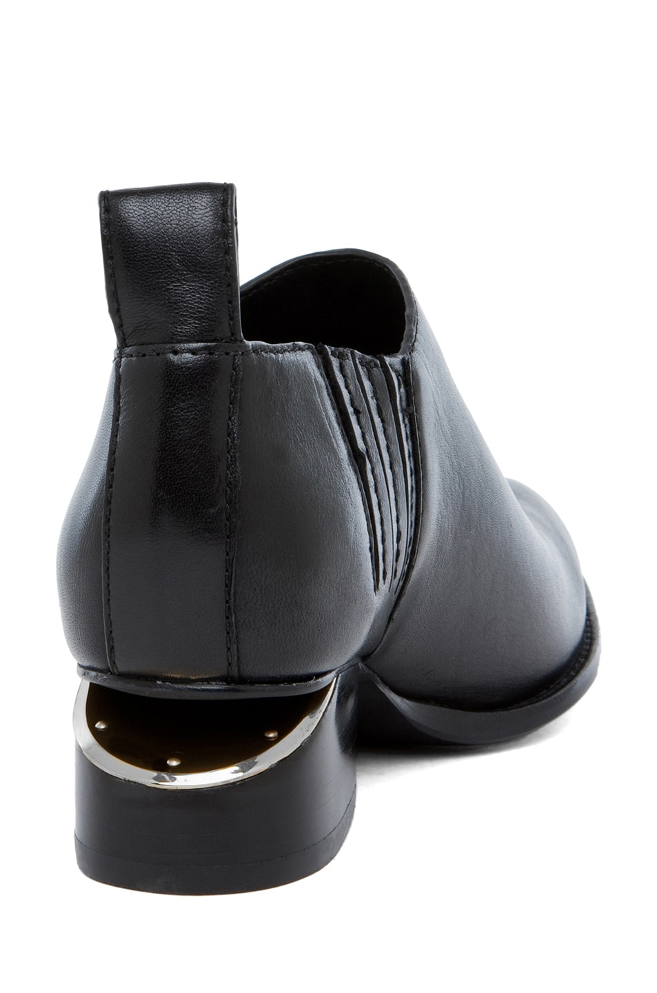 Image 3 of Alexander Wang Kori Leather Oxfords in Black