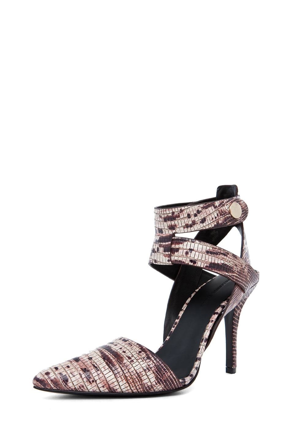 Image 2 of Alexander Wang Sonja Printed Ankle Strap Pump in Ox Blood