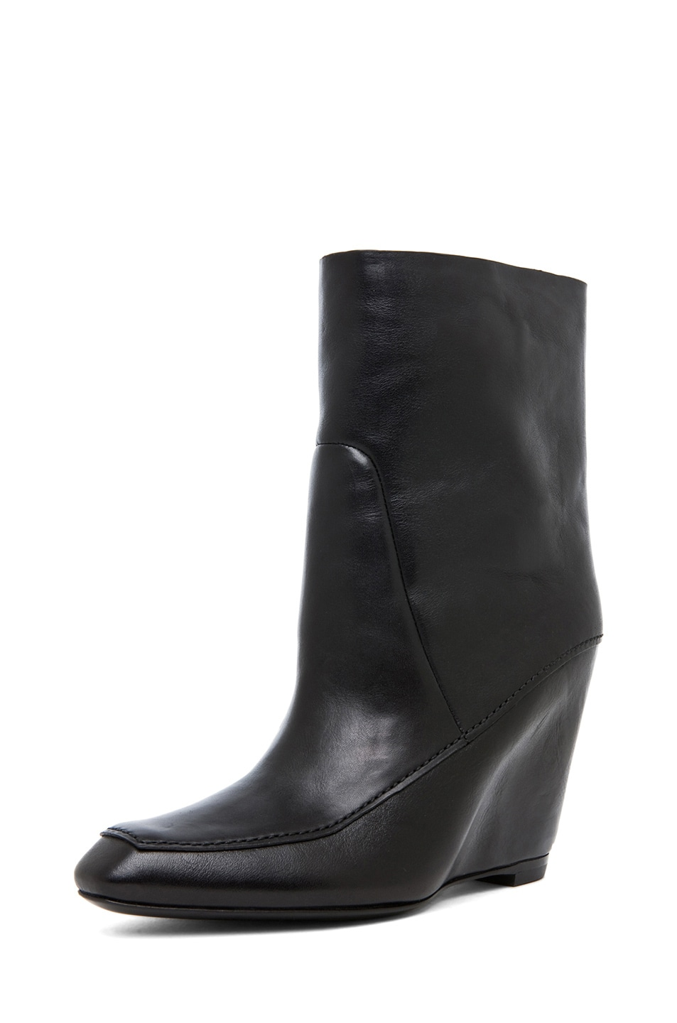 Image 2 of Alexander Wang Cato Leather Wedge Boot in Black