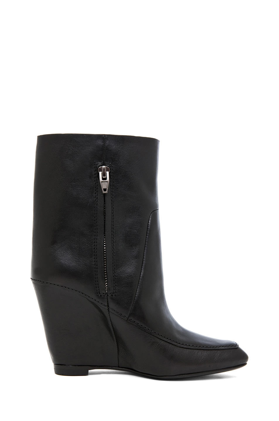 Image 5 of Alexander Wang Cato Leather Wedge Boot in Black