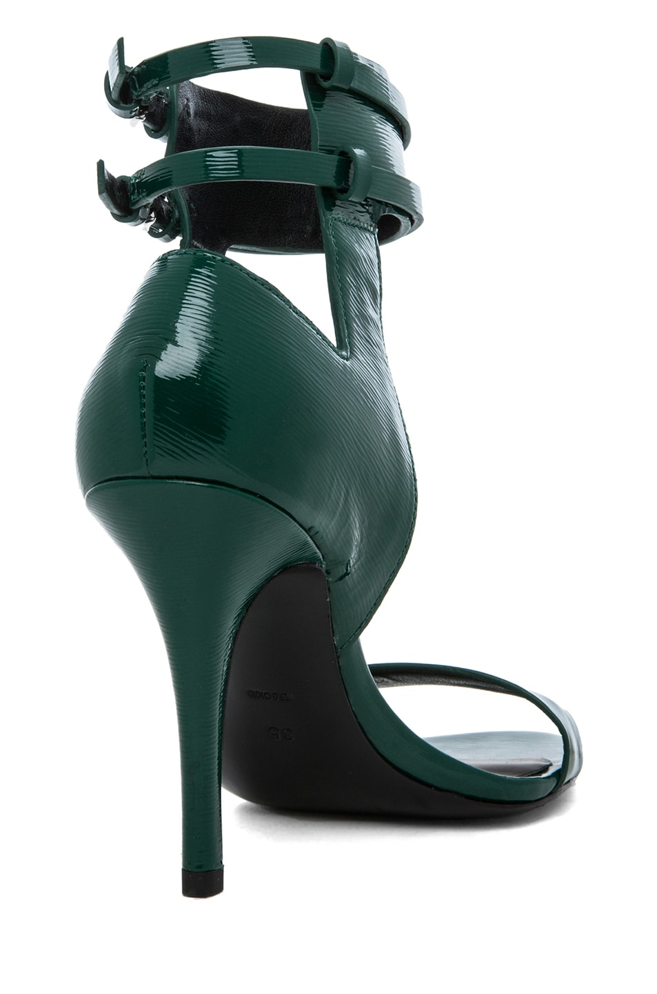 Image 3 of Alexander Wang Johanna Shiny Calf Ankle Cuff Sandal in Vine