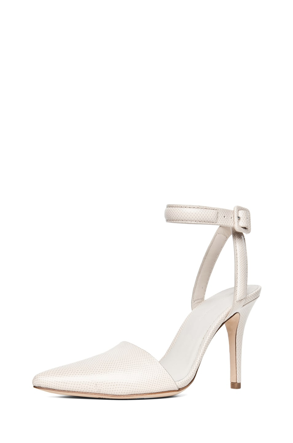Image 2 of Alexander Wang Lovisa Python Embossed Calfskin Leather Pump in Bandage
