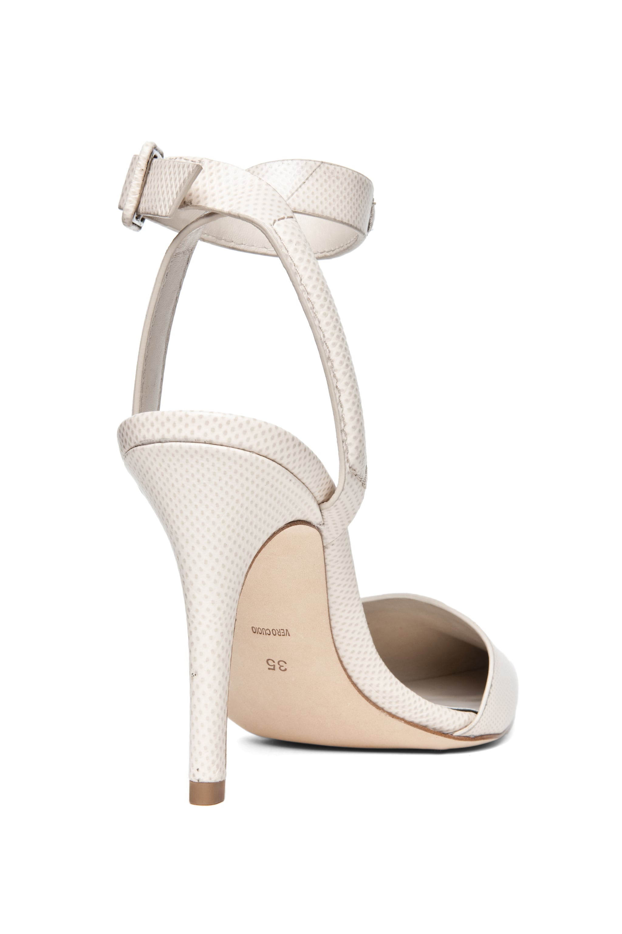Image 3 of Alexander Wang Lovisa Python Embossed Calfskin Leather Pump in Bandage