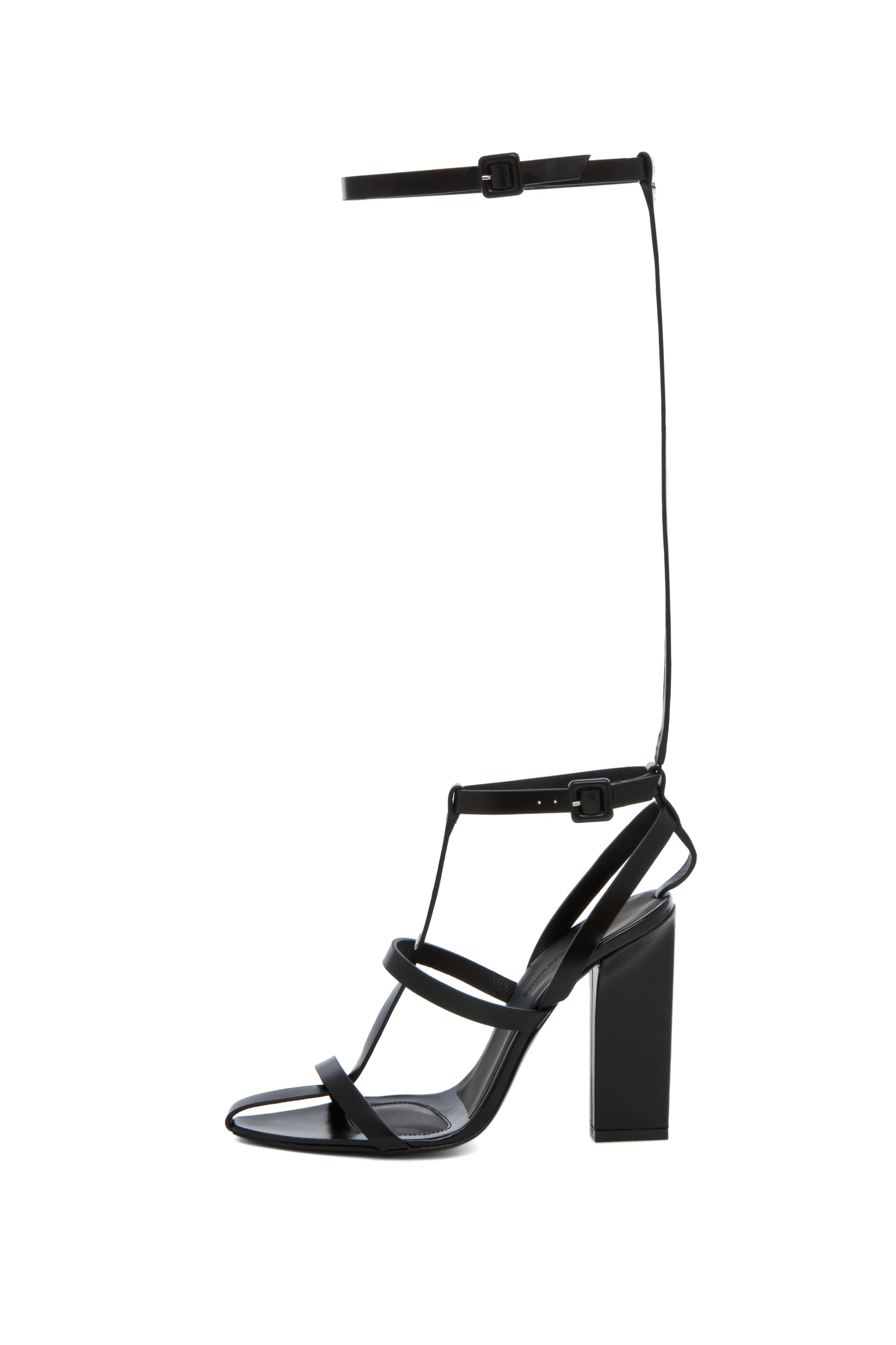 Image 1 of Alexander Wang Aline T Strap Sandal in Black