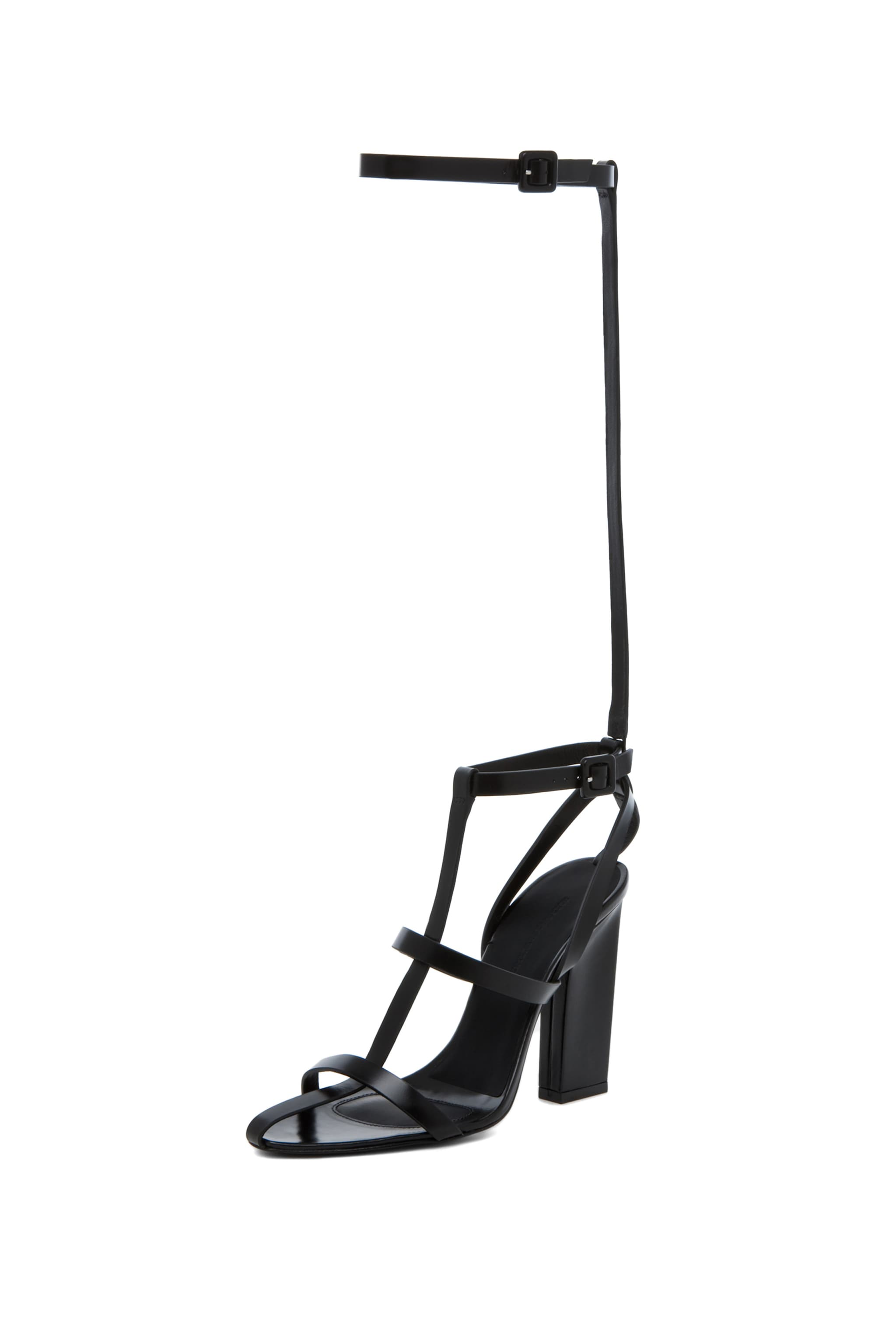 Image 2 of Alexander Wang Aline T Strap Sandal in Black