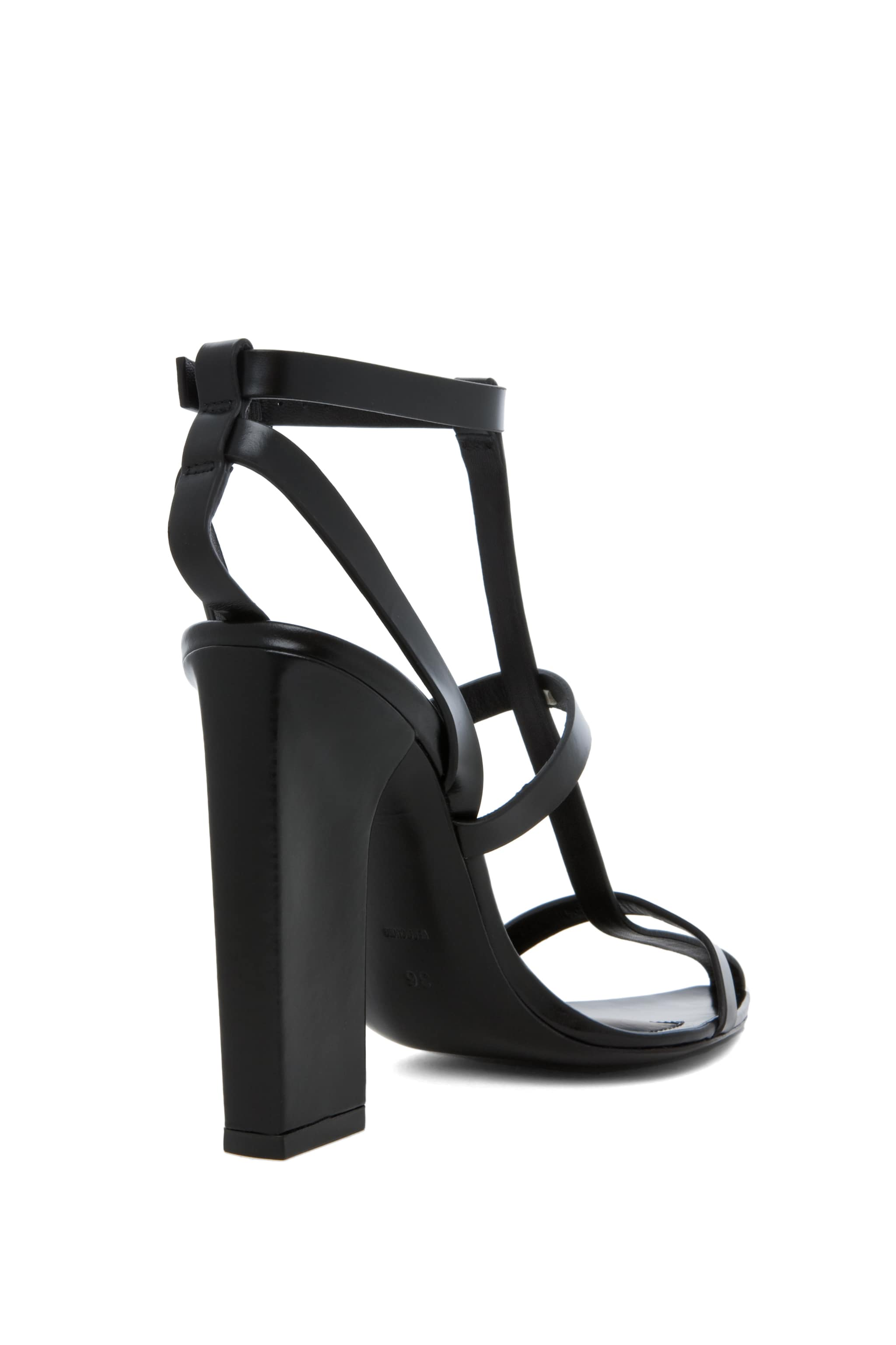 Image 7 of Alexander Wang Aline T Strap Sandal in Black