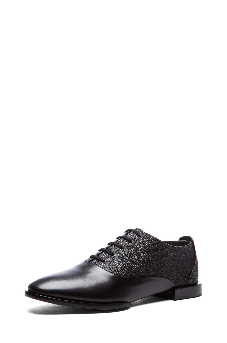 Image 2 of Alexander Wang Ingrid Leather Oxfords in Black