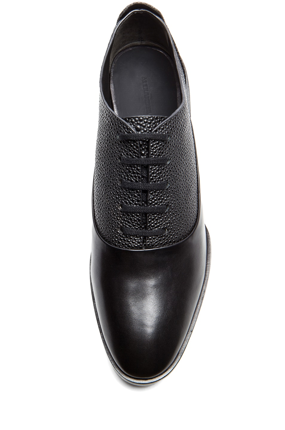 Image 4 of Alexander Wang Ingrid Leather Oxfords in Black